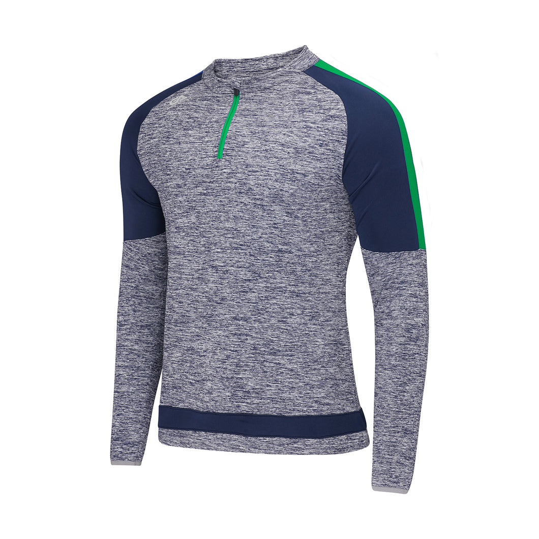 Semple Half Zip Marl / Navy / Emerald