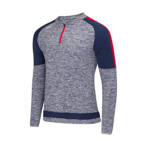 Semple Half Zip Marl / Navy / Red
