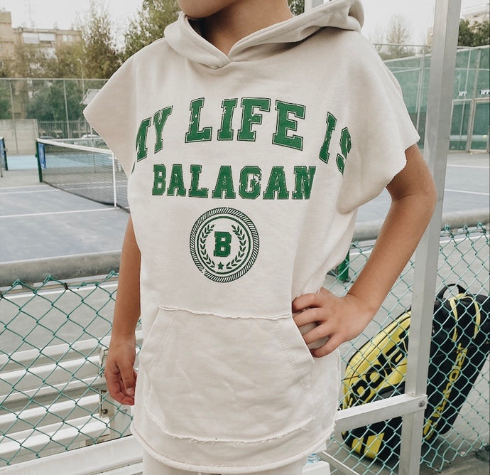 Sweatshirt sleeveless Life is BALAGAN Green