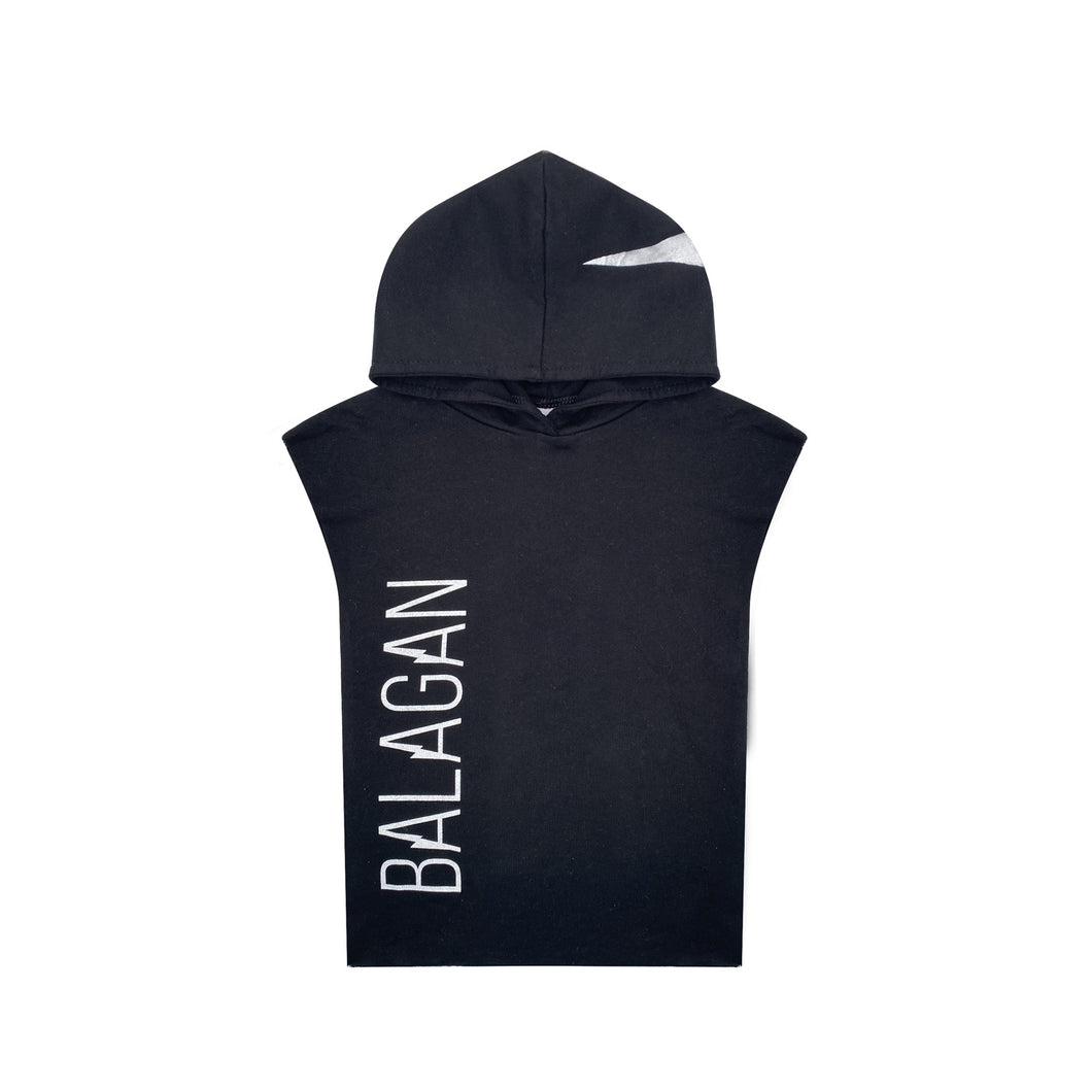 Sleeveless sweatshirt Black