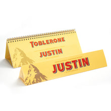 Load image into Gallery viewer, Personalised 360g Toblerone Bar & Tri Fold Calendar