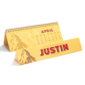 Personalised 360g Toblerone Bar & Tri Fold Calendar