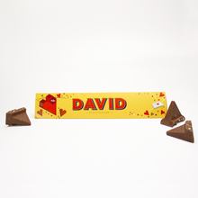 Load image into Gallery viewer, 360g Toblerone with Personalised Valentines Sleeve