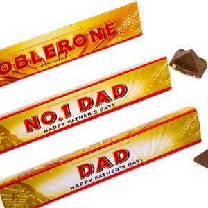 360g Toblerone with Personalised Fathers Day Sleeve