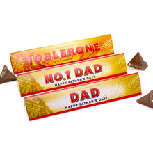 Load image into Gallery viewer, 360g Toblerone with Personalised Fathers Day Sleeve