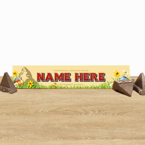 360g Toblerone with Easter Edition Personalised Sleeve