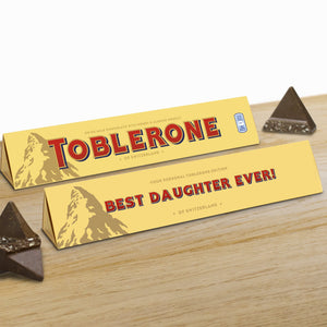 360g Milk Chocolate Toblerone with 'Best Daughter Ever' Sleeve