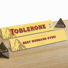 Load image into Gallery viewer, 360g Milk Chocolate Toblerone with 'Best Husband Ever' Sleeve