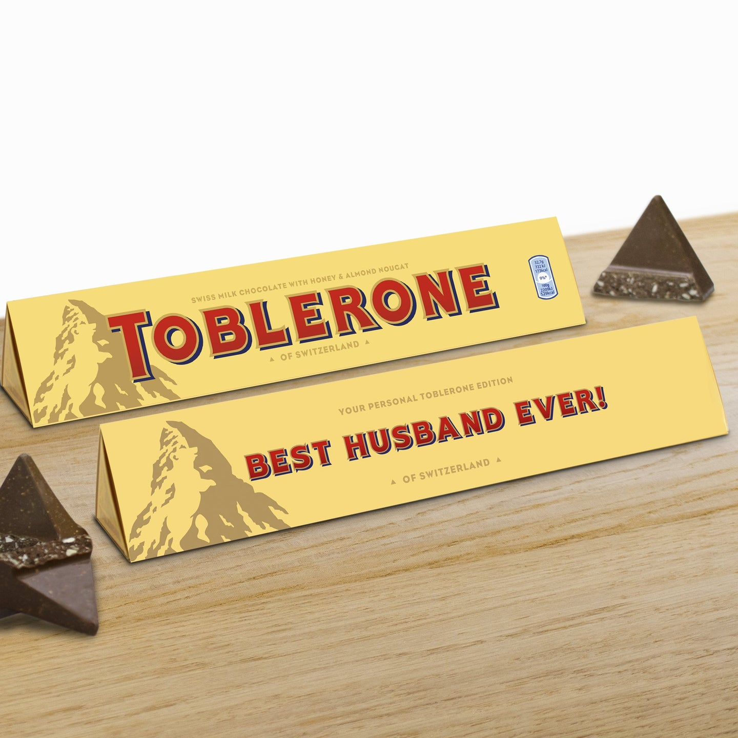 360g Milk Chocolate Toblerone with 'Best Husband Ever' Sleeve