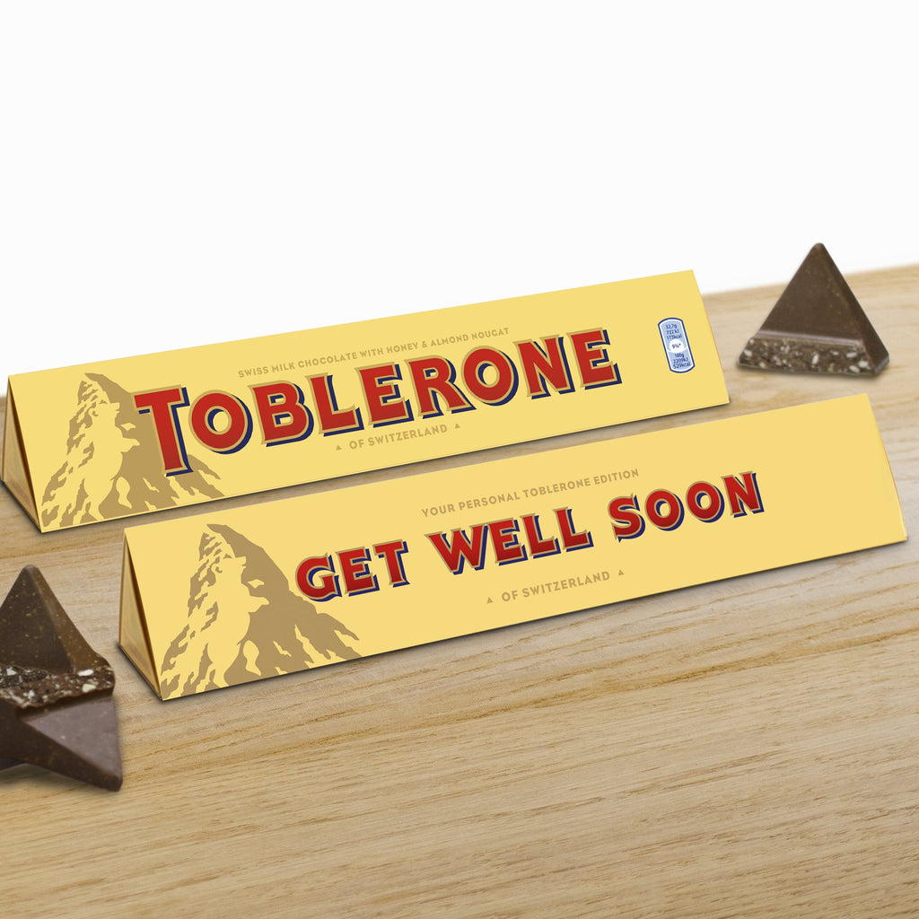 360g Milk Chocolate Toblerone with 'Get Well Soon' Sleeve