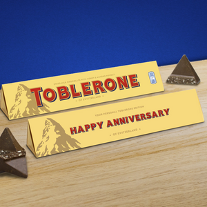 360g Milk Chocolate Toblerone with 'Happy Anniversary' Sleeve