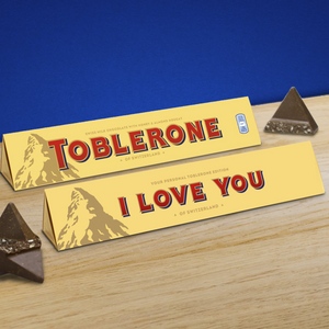 360g Milk Chocolate Toblerone with 'I Love You' Sleeve