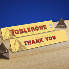 Load image into Gallery viewer, 360g Milk Chocolate Toblerone with 'Thank You' Sleeve