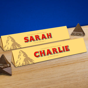 360g Milk Chocolate Toblerone with Personalised Sleeve