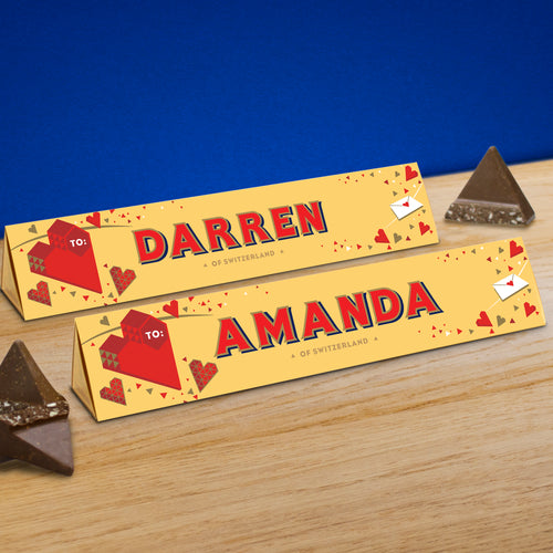 360g Toblerone with Personalised Heart Sleeve