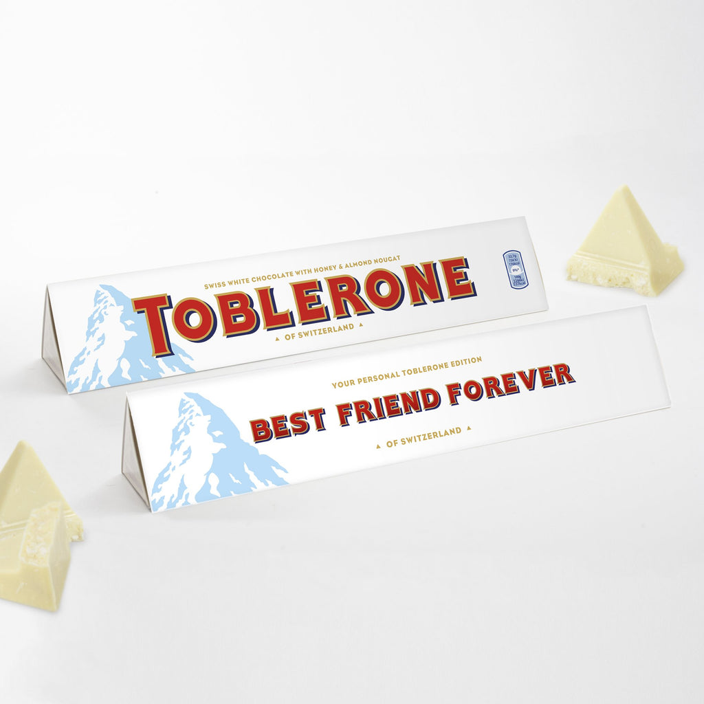360g White Chocolate Toblerone with 'Best Friend Forever' Sleeve