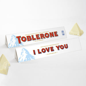 360g White Chocolate Toblerone with 'I Love You' Sleeve