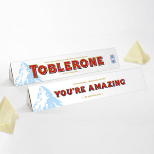 360g White Chocolate Toblerone with 'You're Amazing' Sleeve