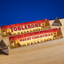 Load image into Gallery viewer, 360g Christmas Scene Milk Chocolate Toblerone