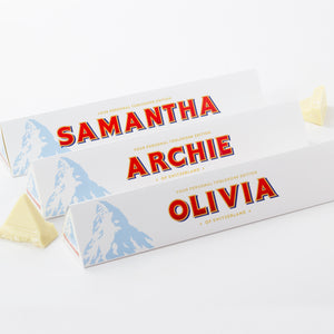 360g White Chocolate Toblerone with Personalised Sleeve