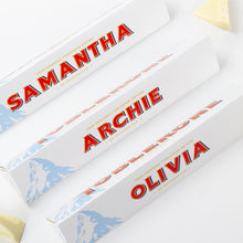 Load image into Gallery viewer, 360g White Chocolate Toblerone with Personalised Sleeve