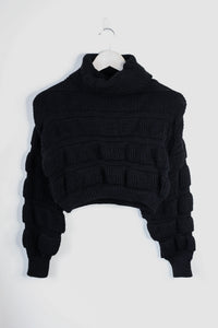 on this vibe knitted black jumper
