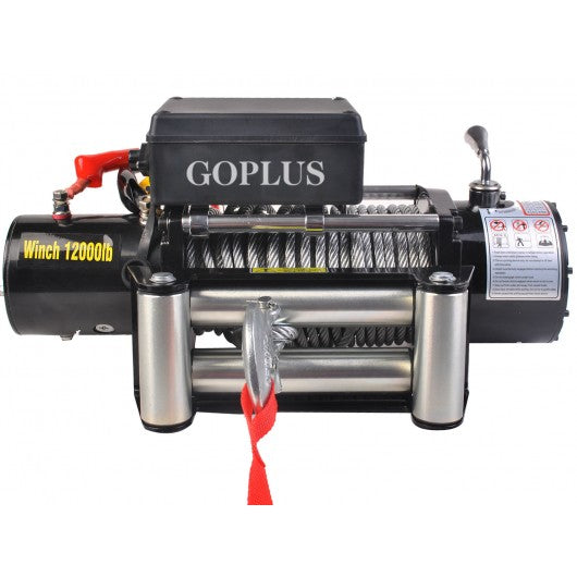Goplus Classic 12000 lbs 12 V Electric Recovery Winch