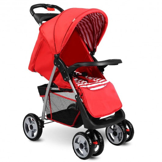 Foldable Baby Kids Travel Stroller Newborn Infant Buggy Pushchair Child 3 color-Red