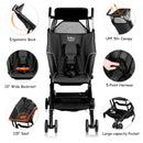 Buggy Portable Pocket Compact Lightweight Stroller Easy Handling Folding Travel -Black
