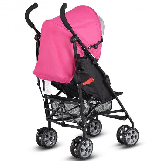 Folding Lightweight Baby Toddler Umbrella Travel Stroller-Pink