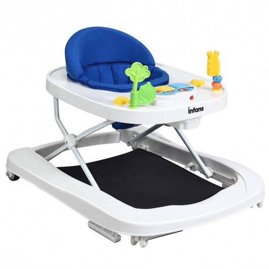3 in 1 Foldable Baby Walker-Navy