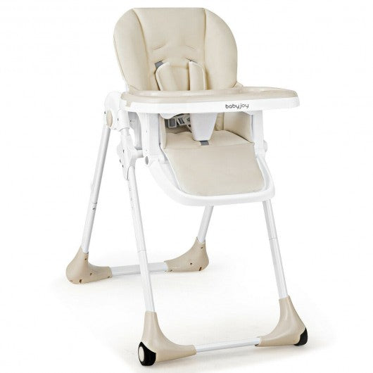 Baby Convertible High Chair with Wheels-Beige