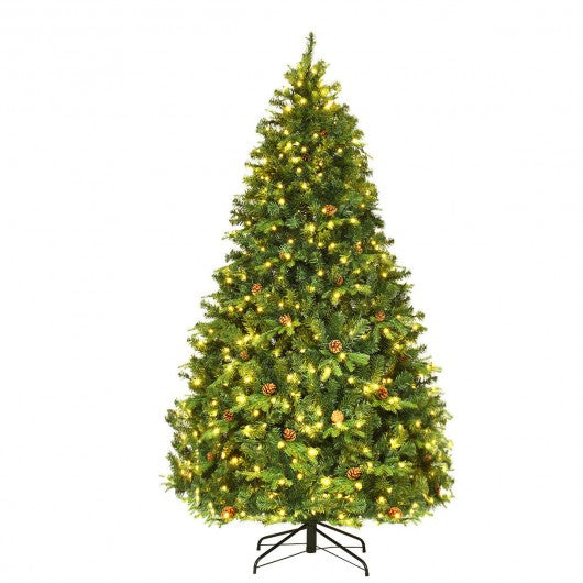 Artificial Christmas Tree with LED Lights & Pine Cones-7'