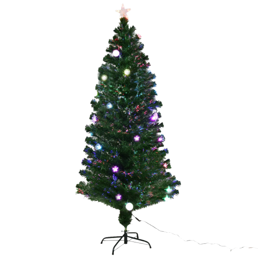 6' - 6.5' - 7' - 7.5' - 8' Fiber Optic Artificial Christmas Tree-7.5'