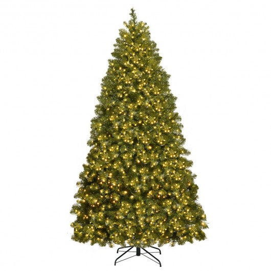 Pre-Lit Artificial PVC Christmas Tree with LED Lights & Stand-7'