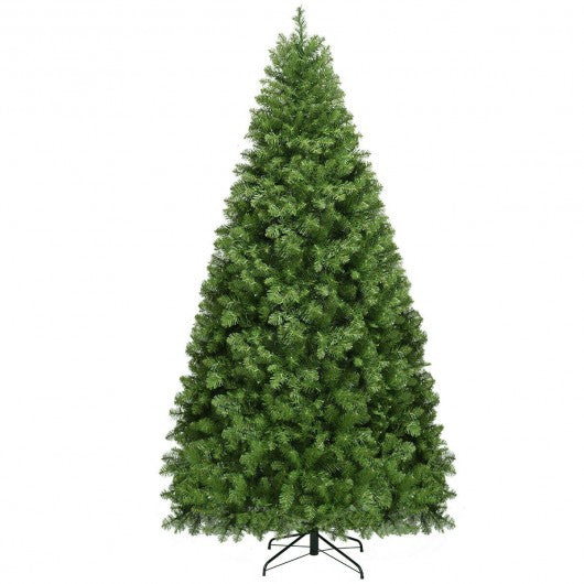 Pre-Lit Artificial PVC Christmas Tree with LED Lights & Stand-8'