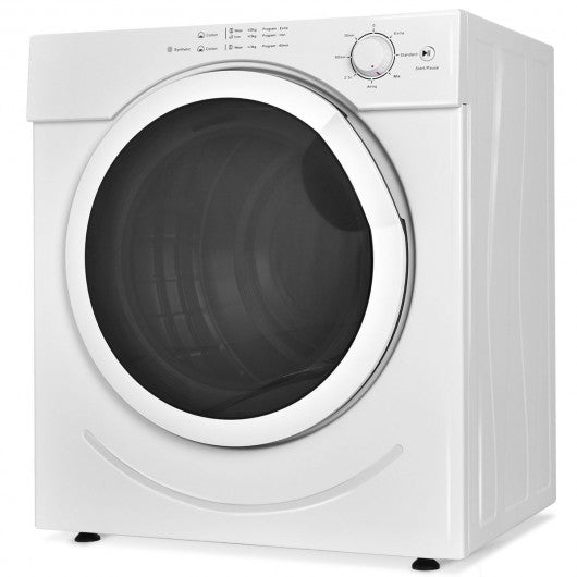 27 lbs 3.21 Cu. Ft. Electric Tumble Compact Cloths Dryer