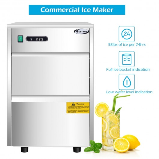 Automatic Ice Maker w- 58lbs-24h Productivity