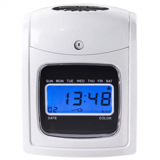 Electronic Recorder Time LCD Display Card Machine