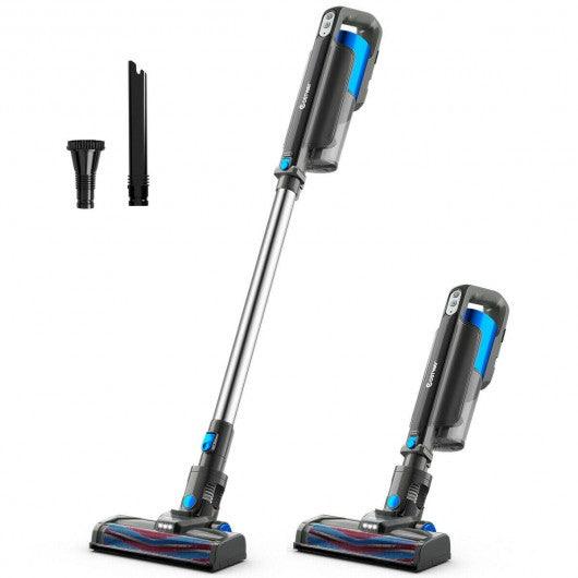 Cordless 6 in 1 Handheld Stick Vacuum Cleaner with Detachable Battery & Filtration-Blue