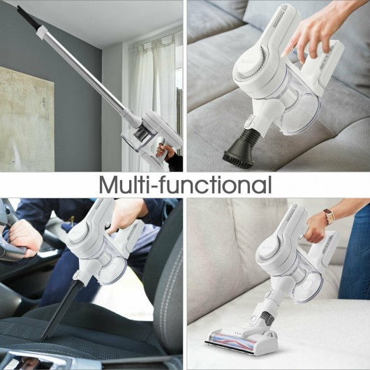 6 in 1 Cordless Handheld Stick Vacuum Cleaner with Detachable Battery