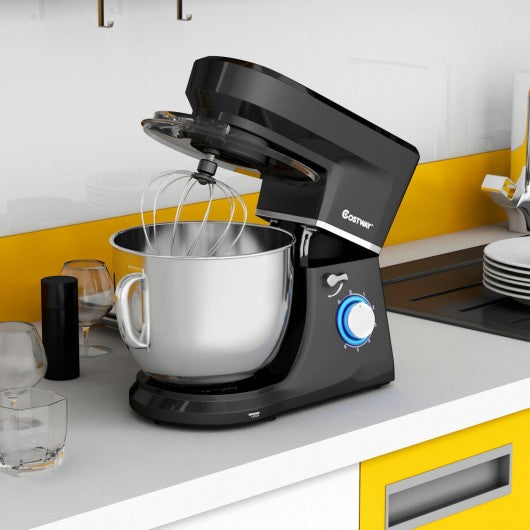 7.5 Qt Tilt-Head Stand Mixer with Dough Hook-Black