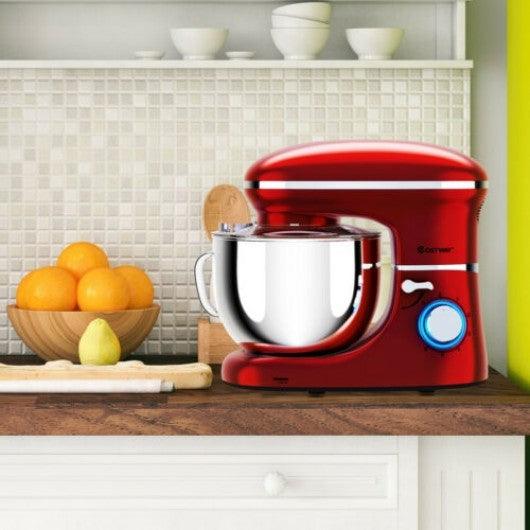 6.3 Quart Tilt-Head Food Stand Mixer 6 Speed 660W-Red