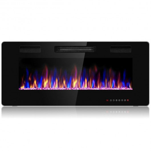 "42"" Recessed Ultra Thin Wall Mounted Electric Fireplace"
