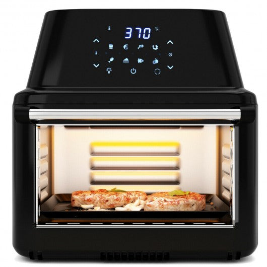 19 QT Multi-functional Air Fryer Oven 1800W Dehydrator Rotisserie-Black