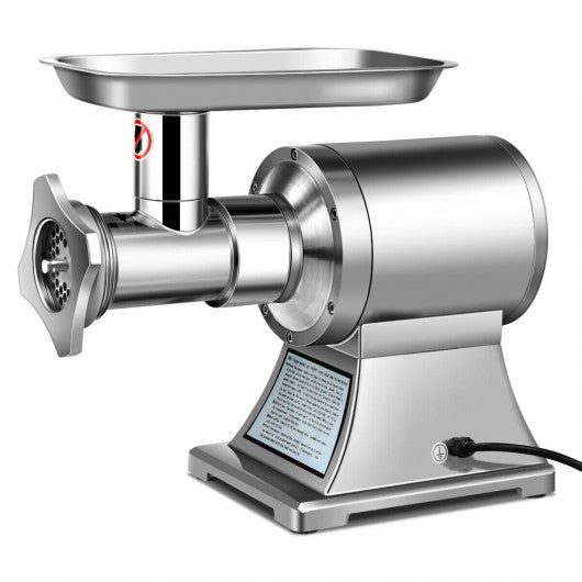 Heavy Duty 1.5HP 1100W 550LB-h Commercial Grade Meat Grinder