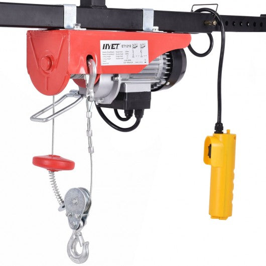 440 lbs Mini Electric Wire Hoist with Remote Control