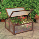 Double Box Garden Wooden Greenhouse