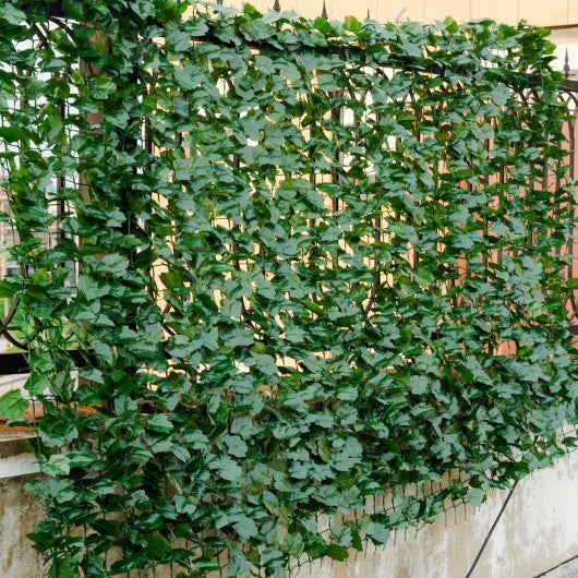 "Faux Ivy Leaf Decorative Privacy Fence-59"" x 118"""