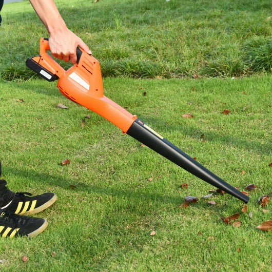 Cordless Leaf Blower Sweeper with 130 MPH Blower Battery & Charger